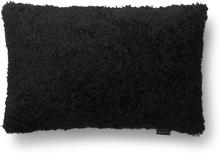 Curly kuddfodral fårskinn - Svart