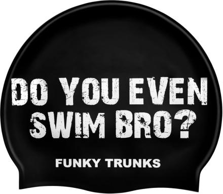 Funky Trunks Silicone Swimming Cap Badehette Herre Hvit/Svart 2019 Badehetter