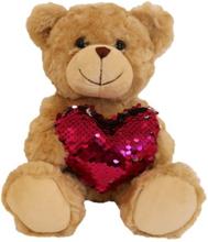 Teddykompaniet Valentino med paljetthjärta