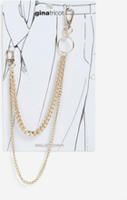 GOLD CURB WALLET CHAIN