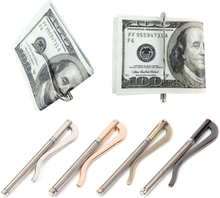 1PC Metal Bifold Money Clip Clamp Cash Holder 2018 Fashion Men Women Bar Wallet Replace Parts Spring Clip New