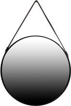 Spegel Adamant 40 cm - Svart läder