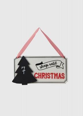 Skylt, räkna ner till julafton