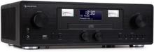 Northfork Retro-radio CD-player BT DAB+ FM trådlös laddning svart