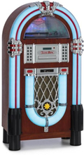 Graceland DAB Jukebox BT CD vinyl DAB+/FM USB SD AUX-IN LED-ljus