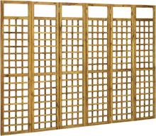 vidaXL Rumsavdelare/Spaljé 6 paneler massivt akaciaträ 240x170 cm
