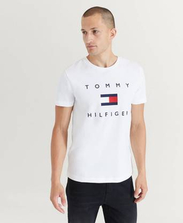 Tommy Hilfiger T-Shirt Tommy Flag Hilfiger Tee Hvit