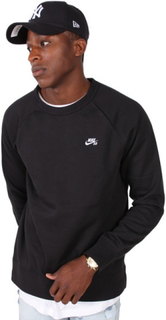 Nike SB Icon Crew LS Fleece Sweat Black