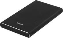 Deltaco externt kabinett 1x2,5 SATA-HDD, USB-C, USB 3.1 Gen 2, svart