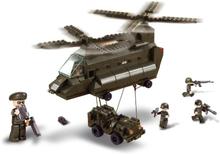 Sluban Byggblock Army Serie Transport Helicopter