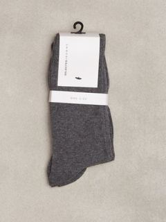 Selected Homme SHD3-Pack Cotton Sock Noos Strumpor Grå