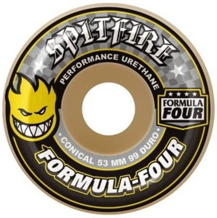 Spitfire Formula Four 99D Conical II 53mm Wheels yellow print Uni
