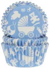 Ljusblå Baby Muffinsformar 50 st - House of Marie