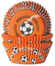 Orange Fotboll Muffinsformar 50 st - House of Marie