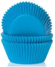 Blå Mini-muffinsformar Blå, Cyan Blue 60 st - House of Marie