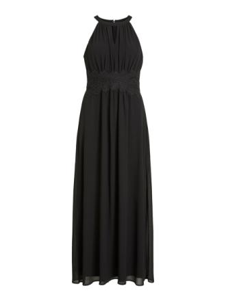 VILA Halter Neck Maxi Dress Women Black