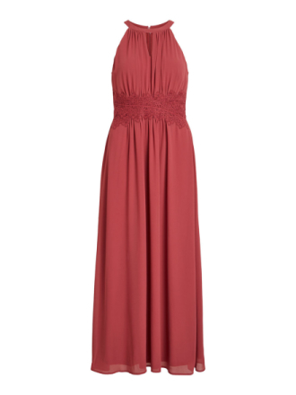 VILA Halter Neck Maxi Dress Women Red