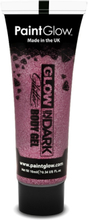 Glow in the Dark glitter gelé for face and krop Pink