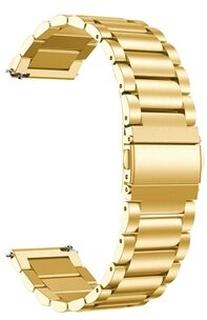22mm rostfritt Steel med fjärilspänne 3-pärls klockarmband för Huawei Honor Magic Watch 2 46mm / Honor Magic / Honor Magic Dream