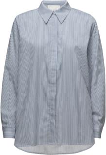 Timeo Shirt Langermet Skjorte Blå Just Female