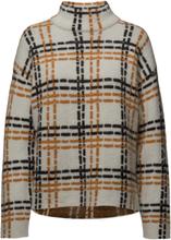 6d068a30dca Poetry Knit T-Neck Strikket Trøje Multi/mønstret SECOND FEMALE