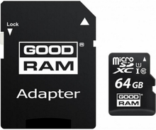 Mikro-SD-hukommelseskort med adapter GoodRam M1AA 64 GB Sort