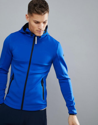 ASOS 4505 Muscle Hoodie In 4 Way Stretch Jersey - Blue