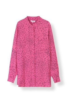 Ganni Barra Crepe Hot Pink Skjorte-36 - Me and the Met
