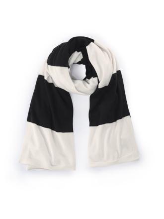 Stickad halsduk i 100% kashmir från include mångfärgad