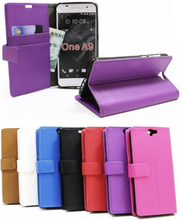 Standcase wallet HTC One A9 (Svart)