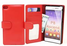 Plånboksfodral Huawei P8 (Röd)