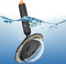 Flythandtag med vattentätt kamerakupol till DJI Osmo Action