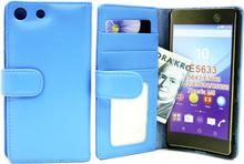 Plånboksfodral Sony Xperia M5 (Ljusblå)