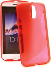 S-Line Skal Lenovo Motorola Moto G4 / G4 Plus (Röd)