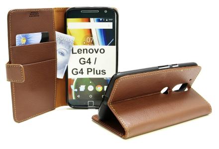 Standcase Wallet Lenovo Motorola Moto G4 / G4 Plus (Brun)
