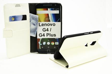 Standcase Wallet Lenovo Motorola Moto G4 / G4 Plus (Vit)