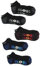 Globe Multi Stripe Ankle 7-11 5Pk Socks black Uni