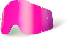 100% Replacement Lenses, pink / mirror 2020 Ajolasitarvikkeet