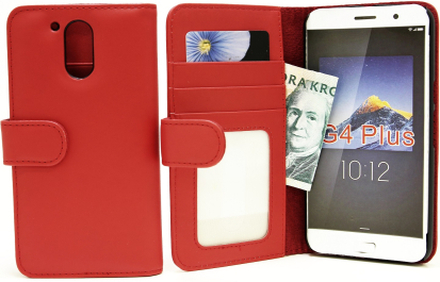 Plånboksfodral Lenovo Motorola Moto G4 / G4 Plus (Röd)