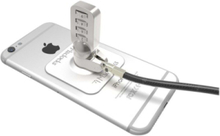 Universal Tablet Cable Lock - 3M Plate - Silver Combination Lock