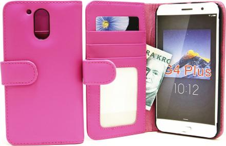 Plånboksfodral Lenovo Motorola Moto G4 / G4 Plus (Hotpink)