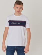 Gant, ARCHIVE SS T-SHIRT, Valkoinen, T-PAIDAT/PAIDAT till Pojat, 170