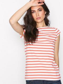 GANT O2. Breton Stripe SS T-Shirt Coral