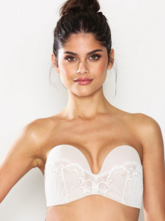 Wonderbra Glamour Perfect Strapless Bra Ivory
