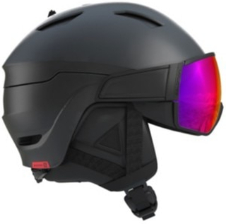 Salomon Driver Visir Helmet black/red accent 59/62