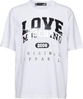 Love Moschino T-shirt Top Hvid Love Moschino