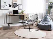 Beliani Työpöytä vaaleanruskea GRANT