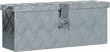 vidaXL aluminiumskasse 48,5 x 14 x 20 cm sølvfarvet
