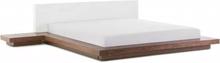 Beliani Dubbelsäng med sängbord 180 x 200 cm brun ZEN