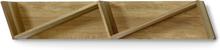 Zitti vägghylla Ek 133x22 cm
